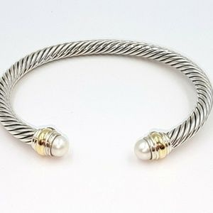 David Yurman 5mm Gold Pearl Bracelet